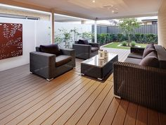 The ideal place to entertain a group of friends or family. This spacious outdoor area is an absolute must! On display in Piara Waters, Perth WA. Outdoor Areas, Outdoor Rooms, Outdoor Dining, Indoor Outdoor, Outdoor Furniture Sets, Outdoor Decor, Alfresco Designs, Alfresco Ideas, Corner Seating