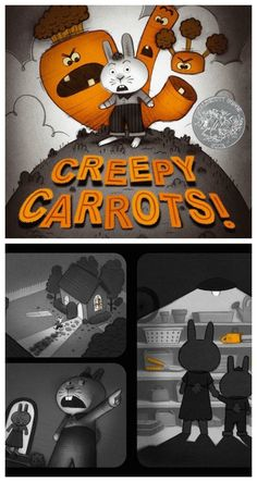 Fun, creepy books for kids: Creepy Carrots by Aaron Reynolds and Peter Brown
