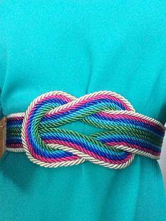Cinturón nudo INFINIT multicolor  Pedidos a lazodeseda@gmail.com