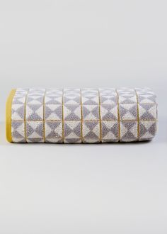 In a vibrant grey and mustard geometric pattern, this pure cotton towel will bring tribal style and colour to your bathroom. Soft and fluffy, it is. Yellow Hand Towels, Egyptian Cotton Towels, Bath Or Shower, Yellow Bathrooms, Attic Rooms, Bath Sheets, Bathroom Inspiration, Bathroom Ideas, Tribal Fashion