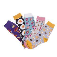Weich Bunt Lustiges Kunst-Muster Socken Lange Strumpfwaren Baumwollstrumpf