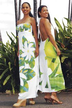 Tiare Teiti Dress: Hawaii