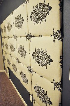 Tutorial: How to make a Fabric Headboard