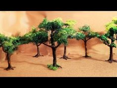Diorama (parte 2) Árvores - Miniature (part 2) Trees - YouTube