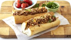 French Loaf with Cheesy Mince and Mushrooms