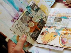 7 Links to get you started with art journaling...#arttherapy prompts