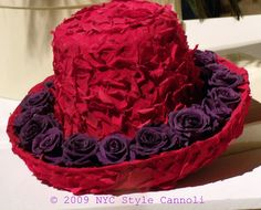 Red Flowers Hat by NYC Style Little Cannoli, via Flickr