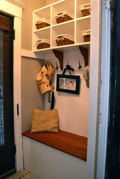 A pretty little entry with lots of practical storage - NewlyWoodwards