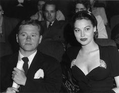 Mickey Rooney with wife Ava Gardner C. 1942 Photo by Bill Dudas