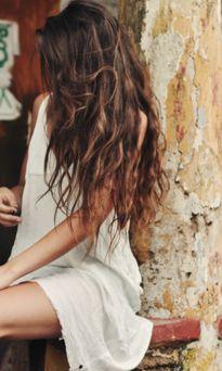 natural, long, messy hair= love