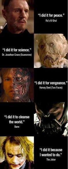Batman villain reasons