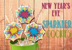 LilaLoa: New Year's Eve Sparkler Cookies