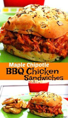 Maple-Chipotle Barbecue Chicken Sandwiches - melissassouthernstylekitchen.com