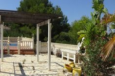 garden area in moraira property