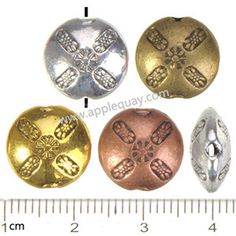 Zinc Alloy Round Flat Beads,Plated,Cadmium And Lead Free,Various Color For Choice,Approx 12.5*6mm,Hole:Approx 1.5mm,Sold By Bags,No 000407