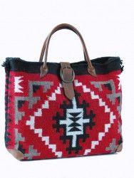 Navajo wool tote