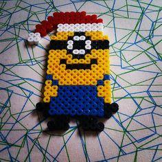 Christmas minion hama beads by wcw1977