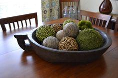 antique dough bowl centerpiece