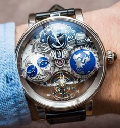 """Bovet Recital 18 Shooting Star Watch Hands-On - by Ariel Adams - see it in motion, the full hands-on photo gallery, & read more:…"" Amazing Watches, Beautiful Watches, Cool Watches, Wrist Watches, High End Watches, Stylish Watches, Luxury Watches For Men, Fleurier, Datejust Rolex"
