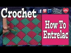 How To Entrelac - Step by Step Tutorial with Tips  Find referenced Pattern in Crochet Fun Patterns ..... or here ..... http://www.redheart.com/free-patterns/trip-around-world-throw