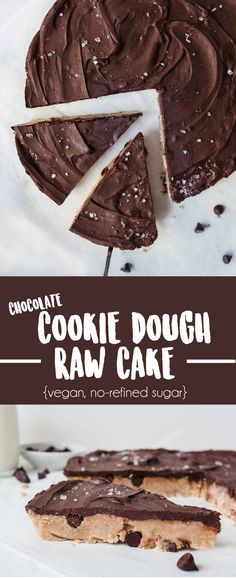 Healthy Raw Vegan Cookie Dough Cake