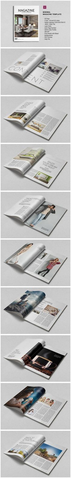 #magazine #design from tujuhbenua | DOWNLOAD: https://creativemarket.com/tujuhbenua/595561-Minimal-Magazine-Template?u=zsoltczigler