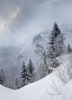 """""""Snow storm over the Eiger"""" Switzerland, by James Boardman-Woodend"""
