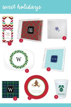 Sweet Holidays from Boatman Geller #Paper #Monograms #Gifts