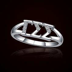 Gamma Sigma Sigma Sorority Rings $39.95 #GammaSigmaSigma #Sorority #Greek #Jewelry