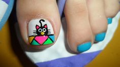 Pedicure Designs, Pedicure Nail Art, Toe Nail Art, Manicure, Nail Designs, Fancy Nails, Pretty Nails, Purple And Pink Nails, Animal Nail Art