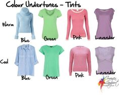 Understanding Colour Undertones - Tints, tones, shades, intensity - how to choose which are warm and which are cool Fashion Colours, Colorful Fashion, Soft Summer Palette, Inside Out Style, Winter Typ, Seasonal Color Analysis, Color Me Beautiful, Warm Autumn, Deep Autumn