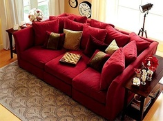Perfect I LOVE A Nice Deep Couch! Loveeee This Big Couch With A Lot Of Pillows    The Only Thing I Would Change Is The Color!
