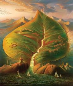Ocean Sprouts by Vladimir Kush