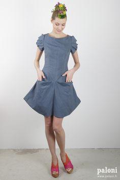 TAUKO PicnicLeija dress Grey Designed & made by Mila Moisio & Kaisa Rissanen (design) & Heidi Metsäkylä (cutting & sewing) in Helsinki