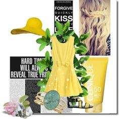 """Yellow summer...:)"" by gabryrain on Polyvore"
