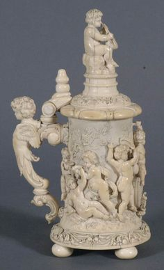 Carved Ivory Tankard $11,212 at Fairfield Auction www.fairfieldauction.com