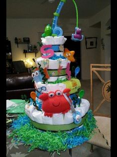 diaper cakes for girls - Google Search
