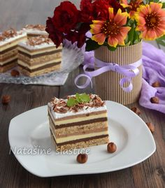 čokoladni kolač Bosnian Recipes, Croatian Recipes, Sweet Desserts, Just Desserts, Baking Recipes, Cookie Recipes, Kolaci I Torte, Torte Cake, Best Christmas Cookies