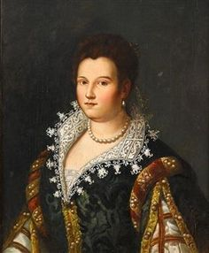 Portrait of Bianca Cappello, Grand Duchess of Tuscany ~ by Florentine School, 16th Century