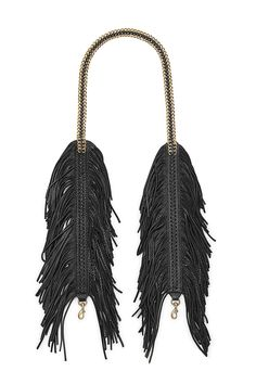 Fringe Chain Guitar Strap - Suede fringe covers an interior chain for a swishy leather accent that's 100% rockstar. The exposed chain up top balances it all out with a touch of luxe. Clip it onto any RM crossbody and let it rock.