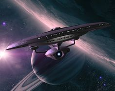Star Trek Bridge Commander pic The USS Envoy undergoes a shakedown cruise. Envoy class by Andyp Background by QAuz