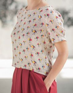lovely printed blouse
