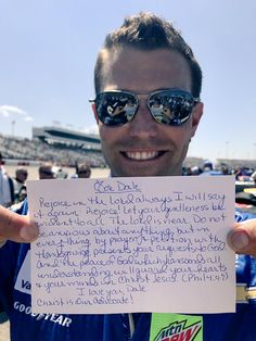 Stevie's prayer from Richmond 2017 for Dale Jr.