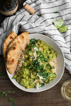 Green Chickpea Curry with Potatoes