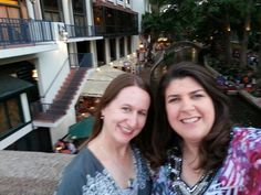 On the Riverwalk with lovely writer, friend, and roomie Diana Beebe. RWA 2014.