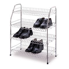 I am in need of a shoe rack like this!  My husband is ready to throw my shoes out. LOL  Create Space - Beyond the Rack