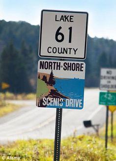 The North Shore scenic drive in northeast Minnesota ...