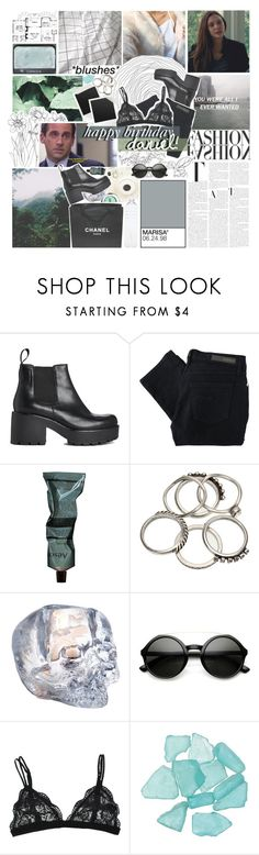 """""""- she doesn't look me in the eyes anymore."""" by etoilesdanse ❤ liked on Polyvore featuring Vagabond, Nobody Denim, Aesop, Polaroid, Chanel, Kosta Boda, Retrò, NYX, Sebastian Professional and modern"""
