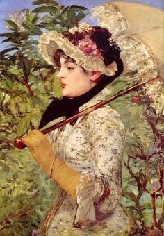 "Édouard Manet ""Spring (Jeanne de Marsy)"" 1881"