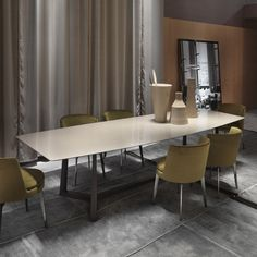 Dining table / rectangular / contemporary / lacquered wood GIPSY FLEXFORM